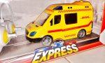 Deutsche Post Távirányitós Expressz Szállitó Autó Szirénázik Villog