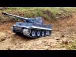 1:16 Rc Tiger Tigris Tank 2.4 Ghz 7.4V 1800 mAh LiPo Akku Full Proporcionális Késői Verziós