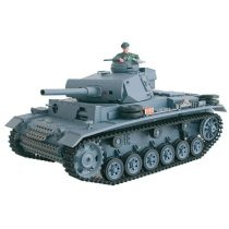 1:16 Panzer Panzerkampfwagen III 2.4 Ghz Rc Tank Modell 7.4 LIPO Akkuval Heng Long Pro Verzió Proporcionális