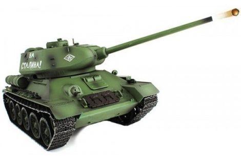1:16 T-34 / 85 T 34 Rc Tank Harckocsi Modell Pro Verzió 2.4 Ghz 7.4 Lipo Akku Proporcionális