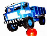 RTR Rc GAZ 66 Orosz 4WD Katonai Rendőrségi Teherautó Modell 2.4 Ghz Proporcionális Gáz Kék Azonnal használható