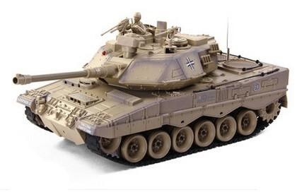 ZEGAN Leopard II Rc 1:18 Méretarányú Tank Modell Airsoft csatarendszerrel