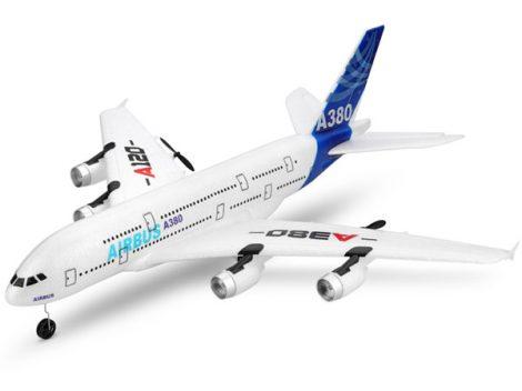 WLTOYS A380 Rc Modell Repülő 510 mm-es szárny fesztáv 2,4 GHz-es 3CH RC EPP Hab Repülőgép LED Gyro