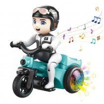 S SUNINESS Gyerek Mini kaszkadőr - Tricikli játék szórakoztató háromkerekű kerékpár zenei fényhatásokkal