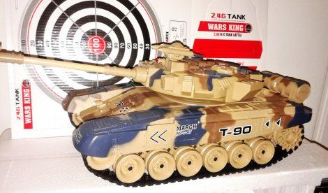1:18 Rc Távirányítós T-90 Tank Modell 9.6V 2.4 Ghz Füstöl Airsoft Löveggel