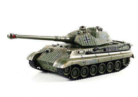 10CH Zegan Infarvörös Király Tigris Tank Csaták Távirányítós Tank 1:28 Méretarány