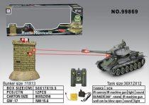 T-34 Tank Csaták Szett Tankok a Bunker ellen Infravörös Tank Csata Készlet