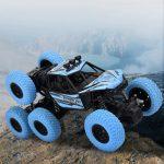 BRAVE RC autó, 6 kerék hajtású távirányító RC lánctalpas terepjáró Monster Truck - 1/20 (kék)