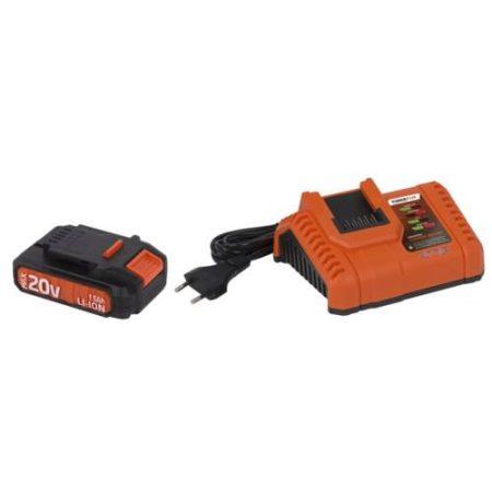 POWDP9060 20 Voltos akkumulátor és akkumulátor töltővel DUAL POWER gépekhez