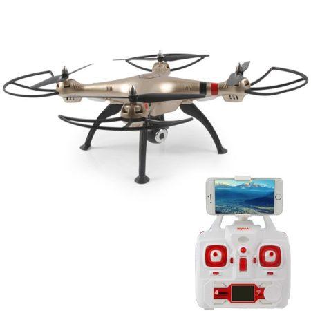 Syma X8HW WIFI FPV Drón 1Mpx HD Kamerával Magasságtartó Funkcióval Arany