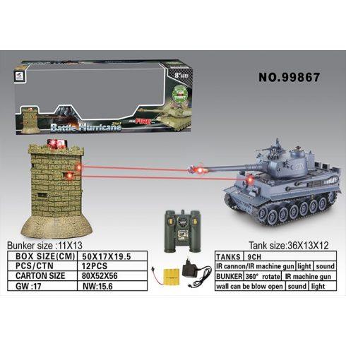 Zegan Tiger 1 Tigris Tank 1:28 Méretarányú VS Tank 36 Cm a Bástya ellen Tank Csaták