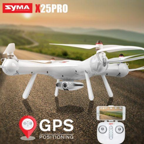 Syma X25Pro GPS Drón Drone Auto Visszatérés optika vezérlés követő funkció lebegés auto fel auto leszállás